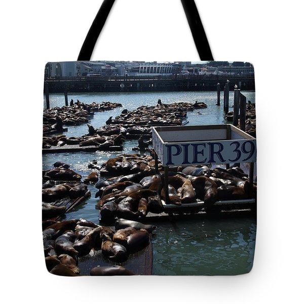 Pier 39 San Francisco Bay Tote Bag by Aidan Moran