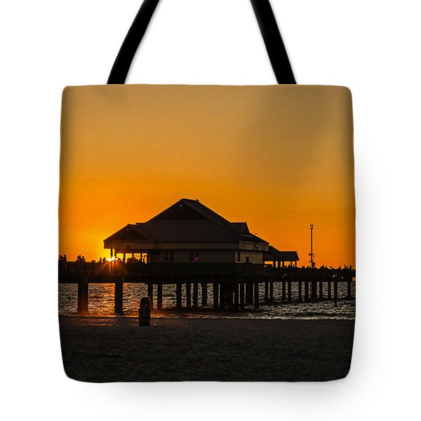 Pier 60 Sunset Tote Bag by Jane Luxton