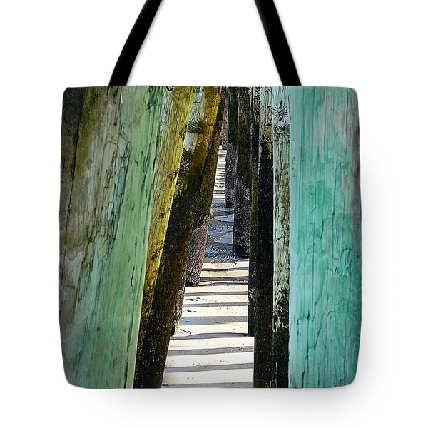 Pier Anchors  Tote Bag by Marcia Lee Jones