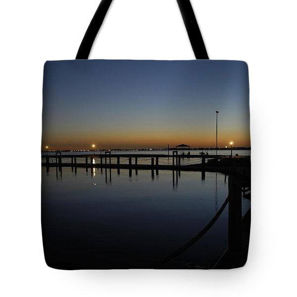 Pier At Chandlers Landing Rockwall Tx Tote Bag