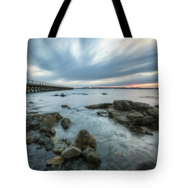 Pier At Dusk Tote Bag by Eric Gendron
