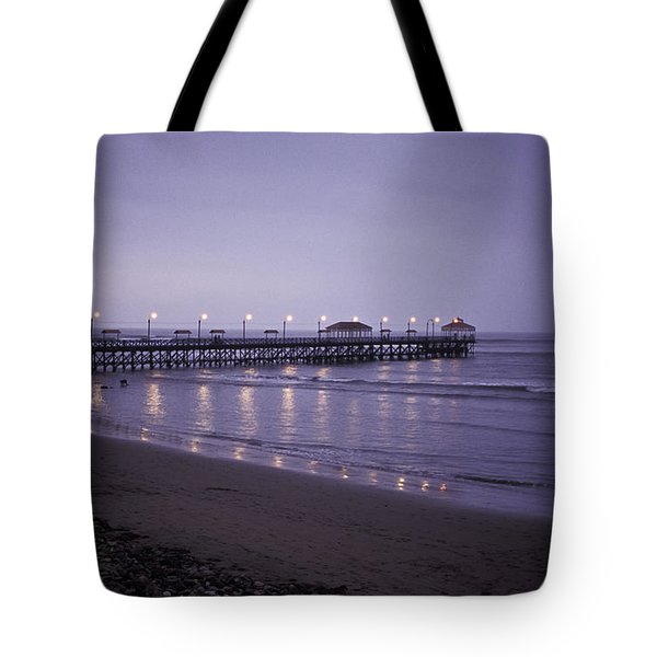 Pier At Dusk Tote Bag