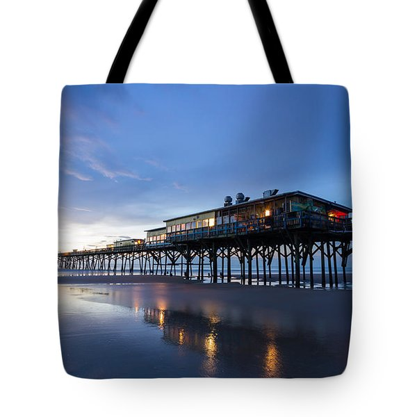 Pier At Twilight Tote Bag