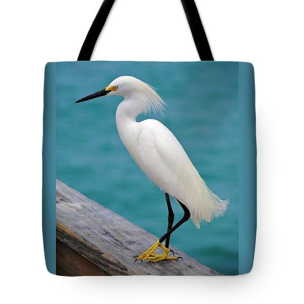Pier Bird Tote Bag