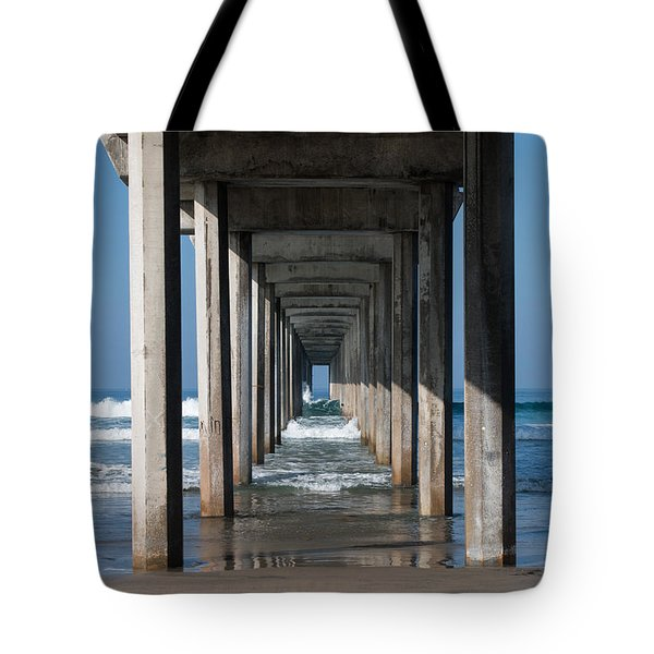 Pier Geometry Tote Bag