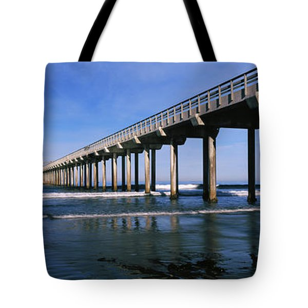 Pier In The Pacific Ocean, Scripps Tote Bag