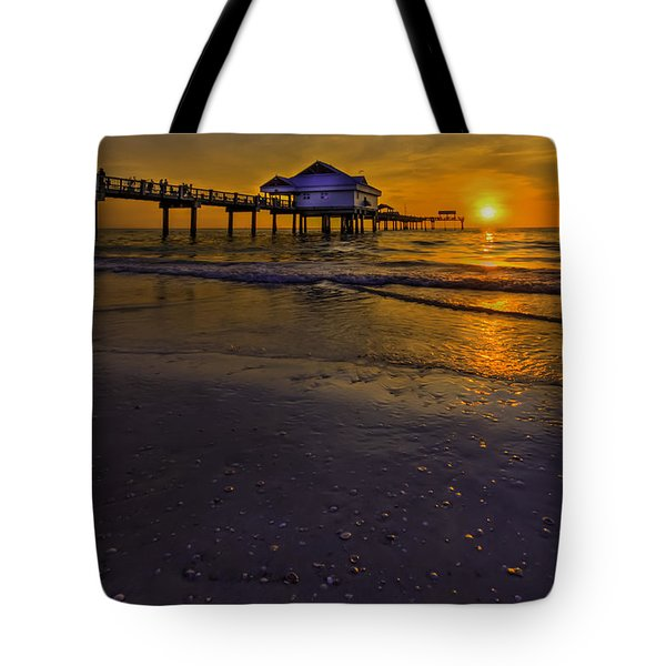 Pier Into The Sun Tote Bag by Marvin Spates