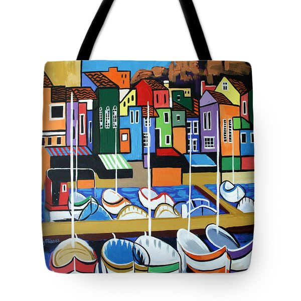 Tote Bag featuring the painting Pier One by Anthony Falbo