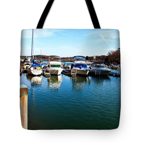 Pier Pressure - Lake Norman Tote Bag