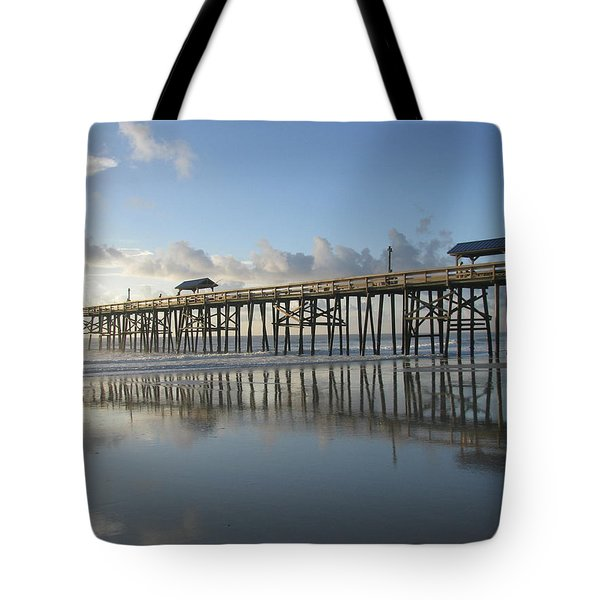 Pier Reflection Tote Bag