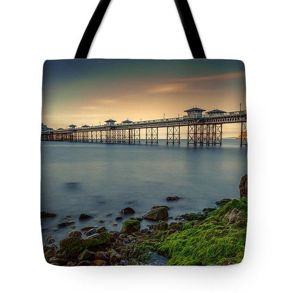 Pier Seascape Tote Bag by Adrian Evans