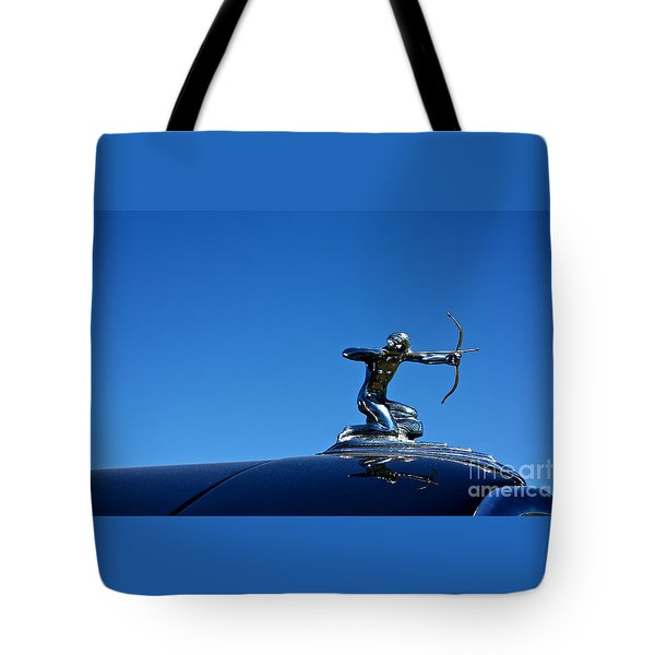 Tote Bag featuring the photograph 1938 Pierce Arrow by Linda Bianic