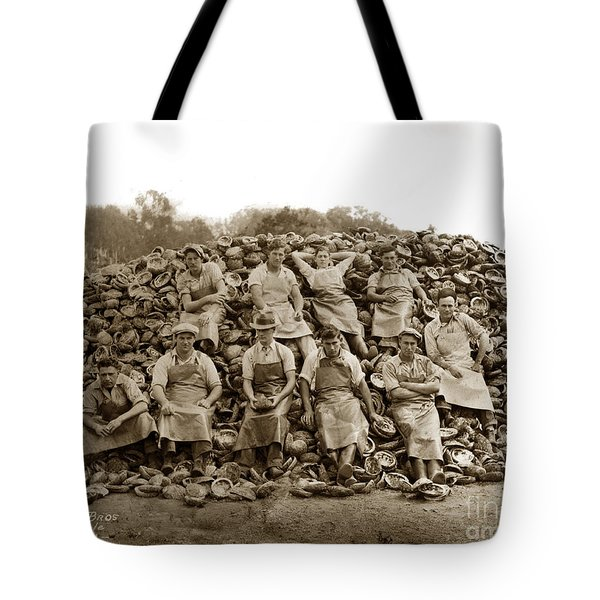 Pierce Brothers Abalone Morro Bay Circa 1925 Tote Bag