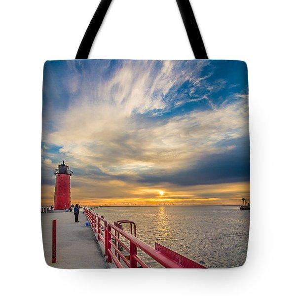 Pierhead October Sky Tote Bag