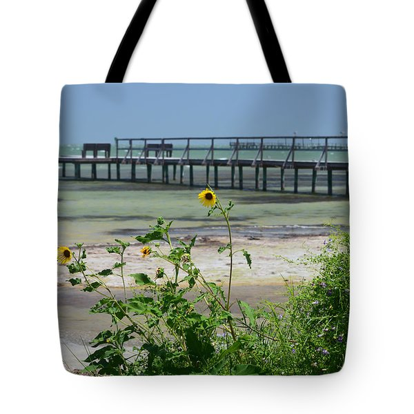 Piering Through Ll Tote Bag by Leticia Latocki