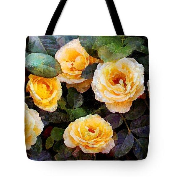 Pierre's Peach Roses Tote Bag