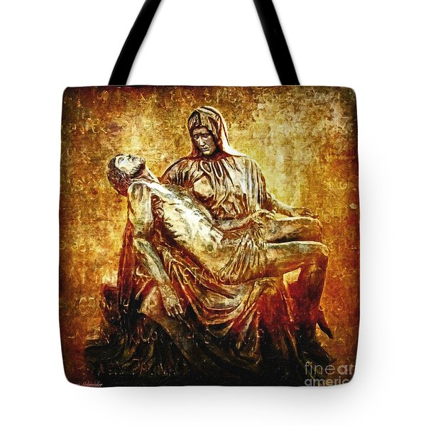 Pieta Via Dolorosa 13 Tote Bag
