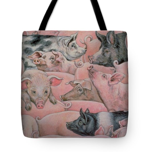 Pig Spread Tote Bag by Ditz
