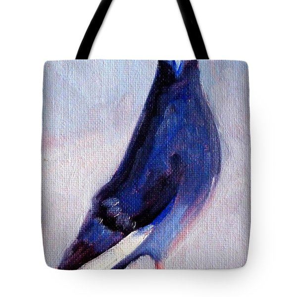Pigeon Bird Portrait Painting Tote Bag
