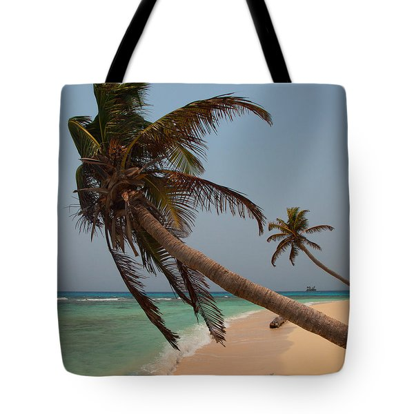 Pigeon Cays Palm Trees Tote Bag by Susan Rovira