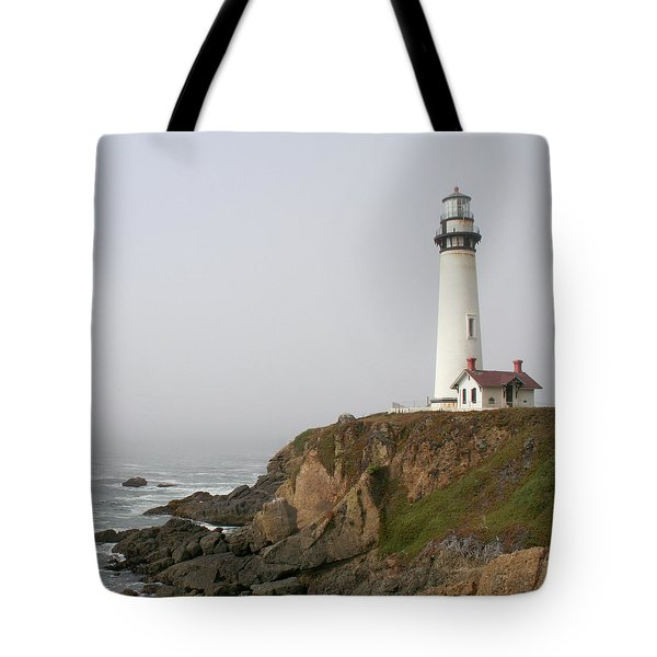 Pigeon Point Lighthouse Tote Bag by Art Block Collections