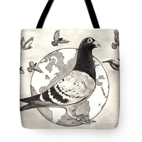 Pigeon Race Tote Bag