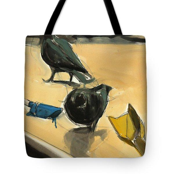 Pigeons Tote Bag by Daniel Clarke