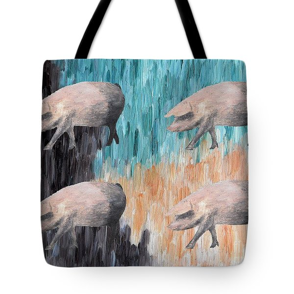 Piggies Tote Bag by Patrick J Murphy