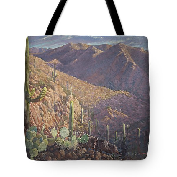 Pigs And Needles Tote Bag by Rob Corsetti