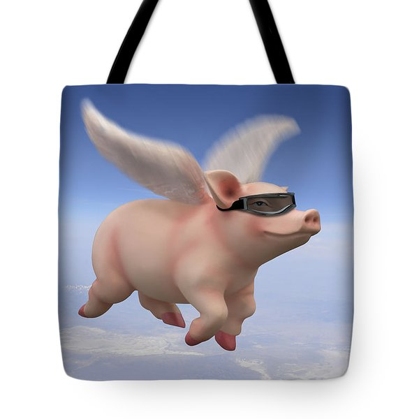 Pigs Fly Tote Bag