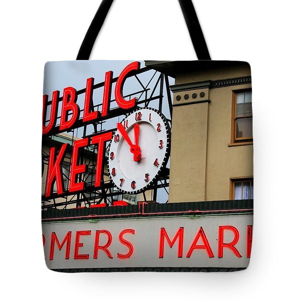 Pike Place Farmers Market Sign Tote Bag
