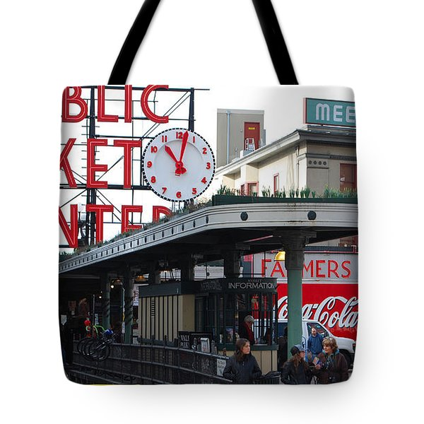 Pike Place Market Center Tote Bag