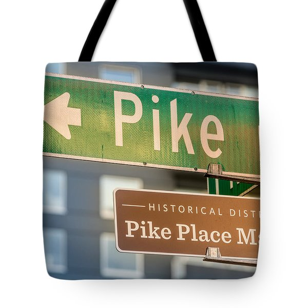 Pike Place Market Sign Tote Bag