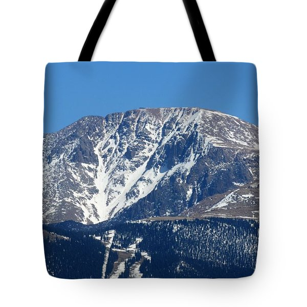Pikes Peak Close-up Tote Bag