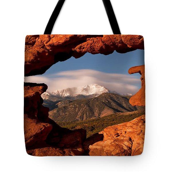 Pikes Peak Framed Tote Bag