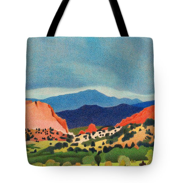 Garden Of The Gods Pikes Peak Tote Bag