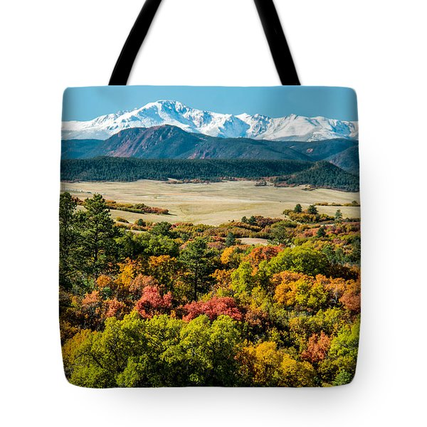 Pikes Peak Over Scrub Oak Tote Bag