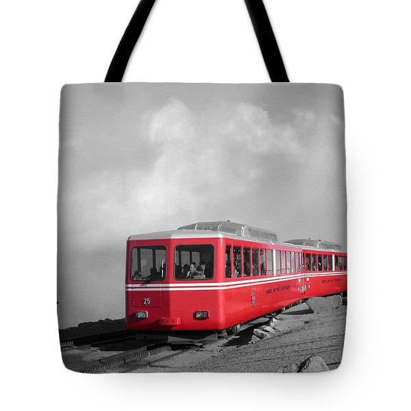 Pikes Peak Train Tote Bag