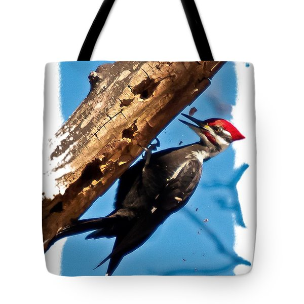 Pileated Woodpecker Tote Bag by Robert L Jackson