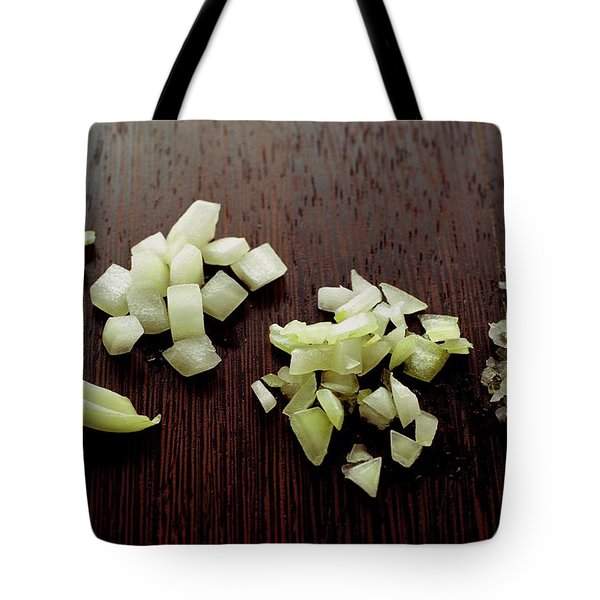Piles Of Raw Onion Tote Bag