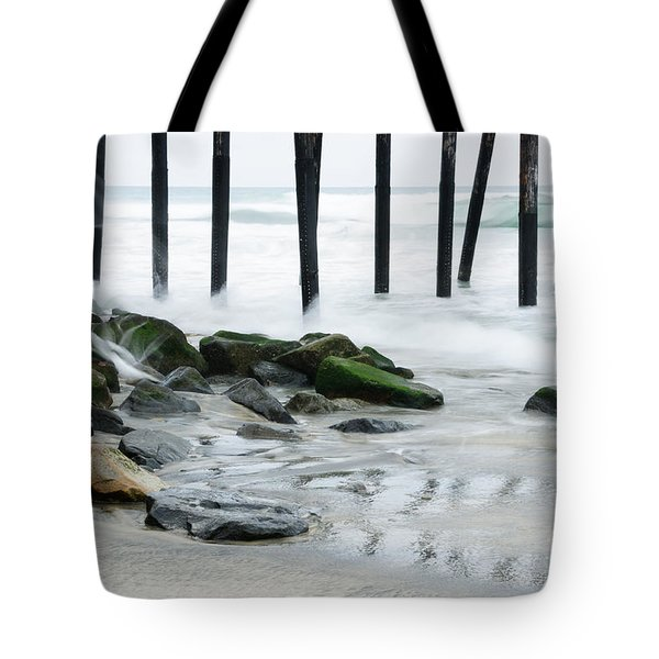 Pilings At Oceanside Tote Bag
