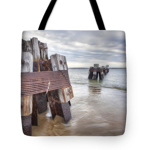 Pilings Tote Bag by Eric Gendron