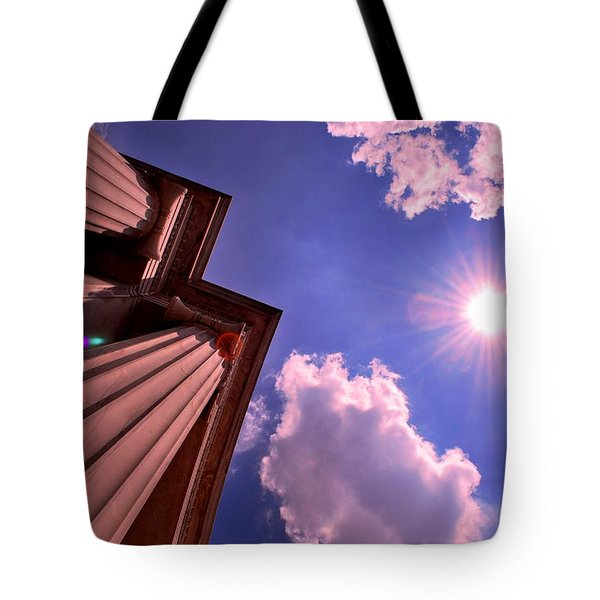 Tote Bag featuring the photograph Pillars In The Sun by Matt Harang