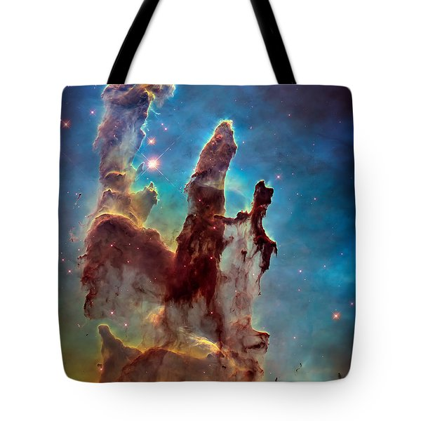 Pillars Of Creation In High Definition Cropped Tote Bag by Jennifer Rondinelli Reilly - Fine Art Photography
