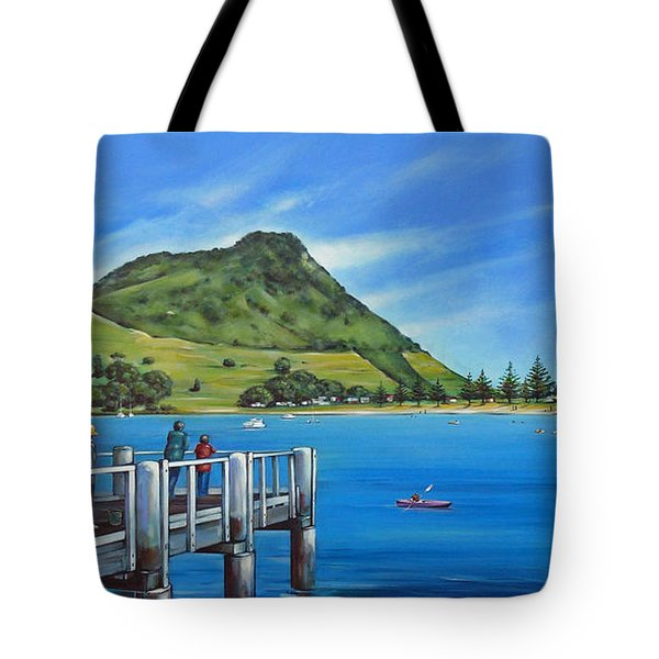 Pilot Bay Mt Maunganui 201214 Tote Bag by Selena Boron