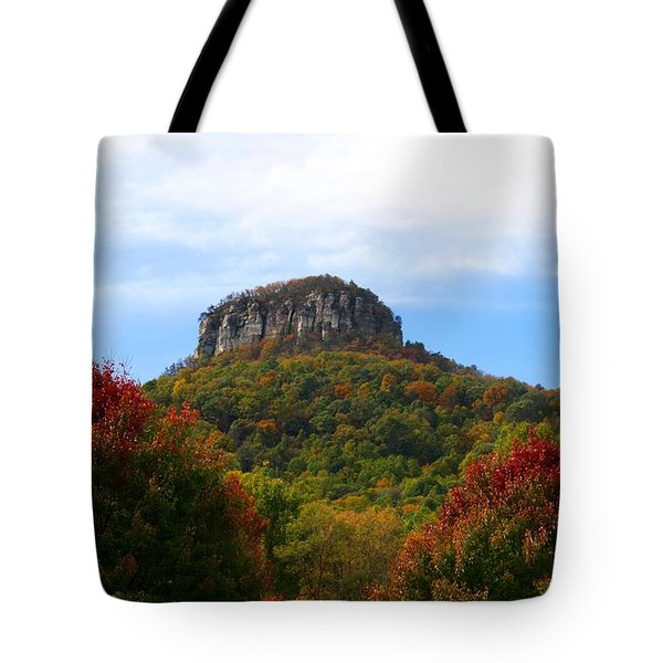 Pilot Mountain From 52 Tote Bag