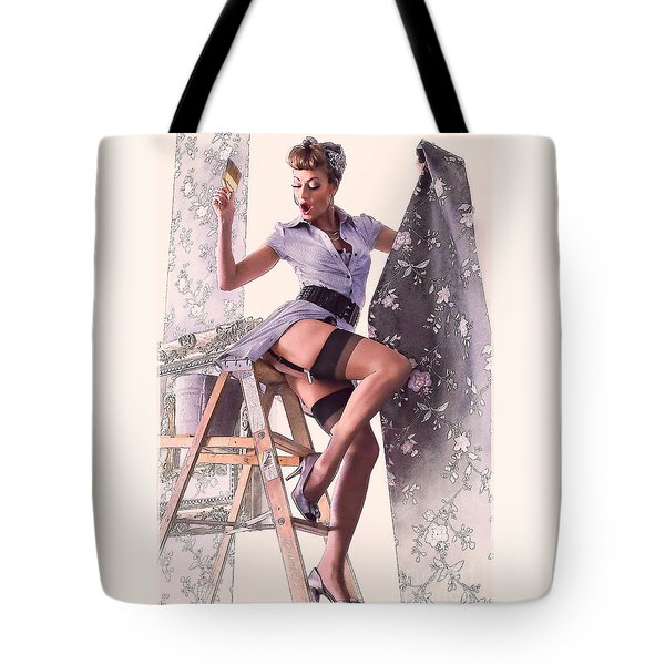 Pin-up Maid Tote Bag