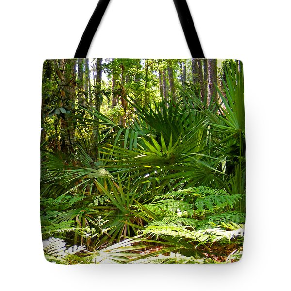 Pine And Palmetto Woods Filtered Tote Bag