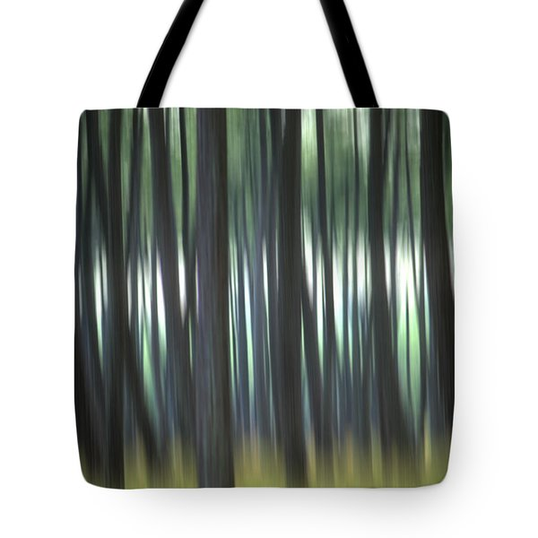 Pine Forest. Blurred Tote Bag