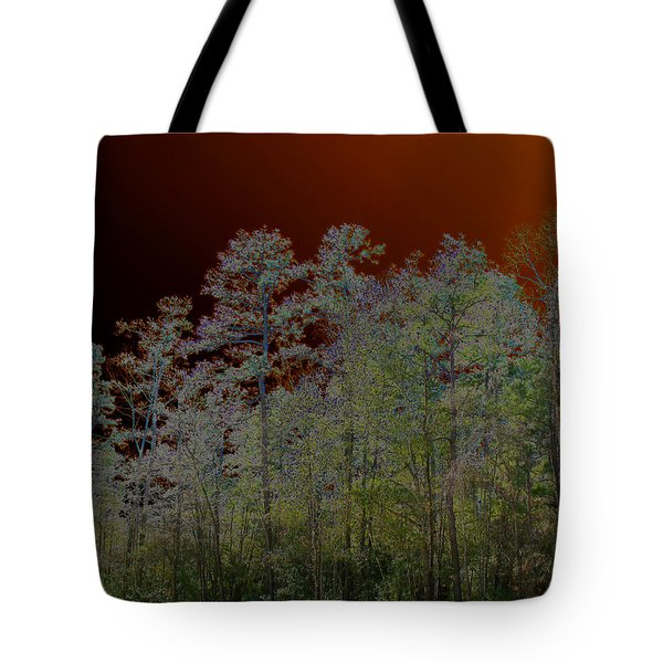 Tote Bag featuring the photograph Pine Forest by Connie Fox